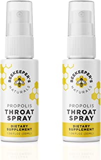 BEEKEEPER'S NATURALS Propolis Throat Spray - 95% Bee Propolis Extract - Natural Immune Support & Sore Throat Relief - Anti...