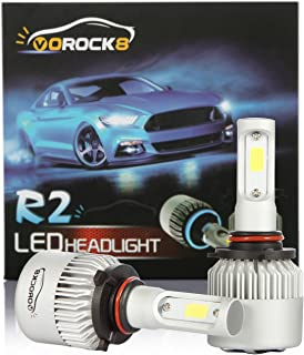 VoRock8 R2 COB 9005 HB3 8000 Lumens Led Headlight Conversion Kit, High Beam Headlamp Hi Beam Bright Headlights, Halogen Head Light Replacement, 6500K Xenon White, 1 Pair