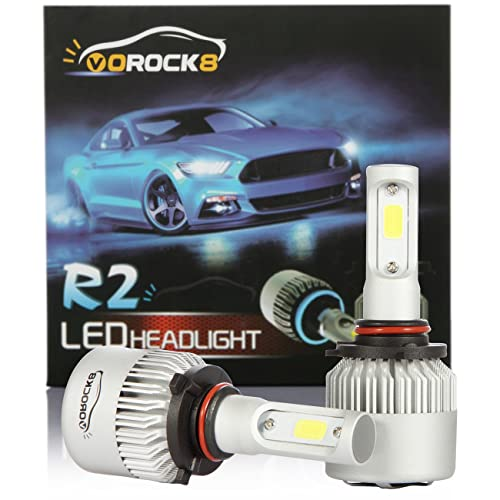 VoRock8 R2 COB 9005 HB3 8000LM LED Headlight Conversion Kit, High Beam Headlamp Hi Beam