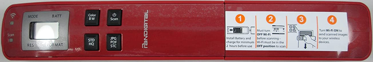 Pandigtal- Handheld WIFI Wand Scanner - Red photo