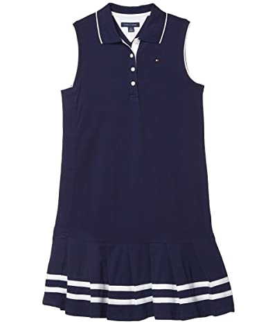 Tommy Hilfiger Adaptive Polo Dress with Hidden Velcro(r) at Side (Toddler/Little Kids/Big Kids) (Evening Blue) Women