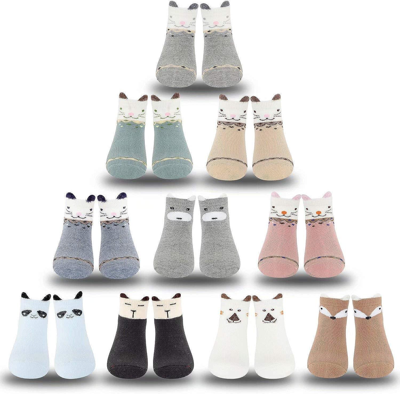 Gwenvenni Toddler Big Little Kids Cotton Ankle Crew Socks For Boys Girls
