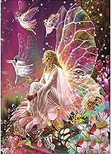 MXJSUA DIY 5D Kits de Pintura de Diamantes Taladro Completo Cristal Redondo Rhinestone Imagen Artesanía para el hogar Decoración de la Pared Regalo Diosa de Las Mariposas 30x40 cm
