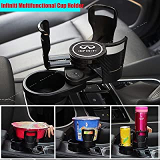 2 in 1 Multifunctional 2 Car Cup Holder Mount Extender Adapter with 360° Rotating Adjustable Base with non-slip silicone c...
