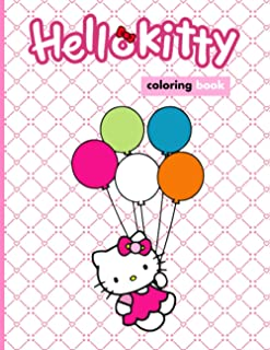 Hello Kitty Coloring Book: An A4 110 Pages Coloring Book For Kids To Enjoy. Exclusive Artistic Illustrations for Girls of ...