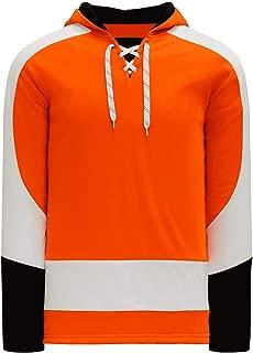 Philadelphia Skate Lace Athletic Pro Hockey Jersey Hoodie - Orange