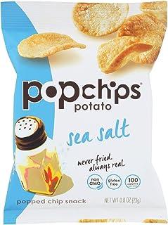 Popchips: Sea Salt Potato Chips 0.8 oz, 24 bags