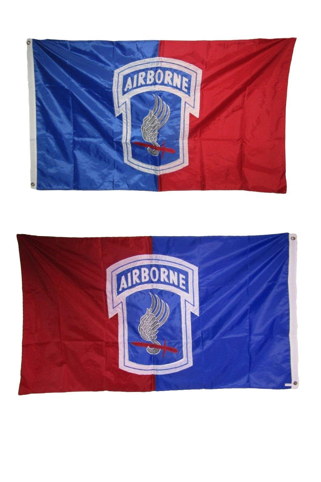 AES 3x5 Embroidered Airborne 173rd Division Double Sided 210D Nylon Flag 3'x5' House Banner Double Stitched Fade Resistant Premium Quality
