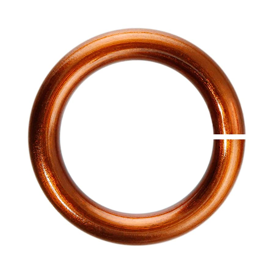 18-Gauge 4mm Brown Enameled Copper Jump Rings - 1 ounce