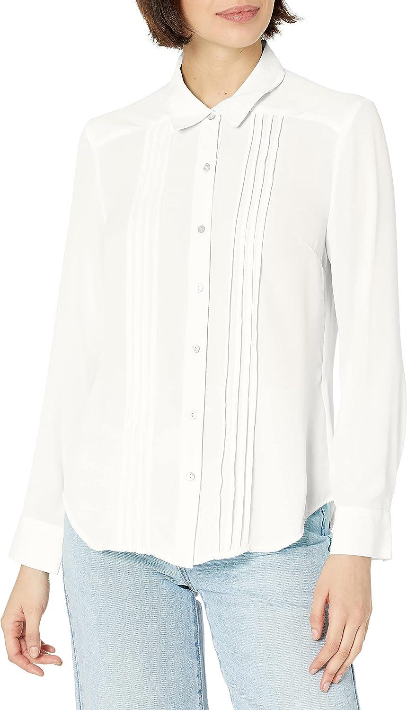 Nanette Nanette Lepore Women's Ls Buttondown Shirt W/Pintucs