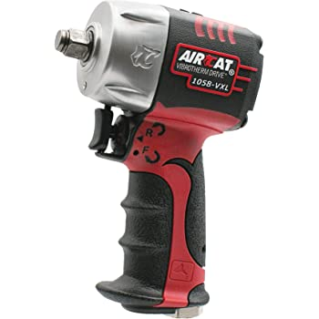 """Aircat 1058-VXL 1/2"""" Drive Compact Impact Wrench,Red, Black, Silver"""