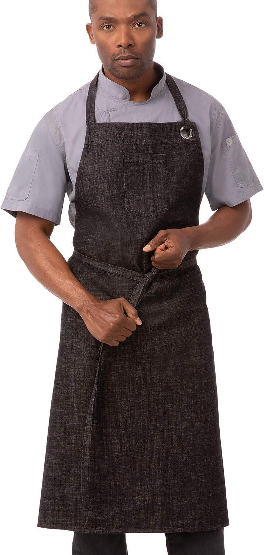 Chef Works Unisex Long-awaited Mesa Mall Corvallis Chefs Burgundy Bib Black One Apron