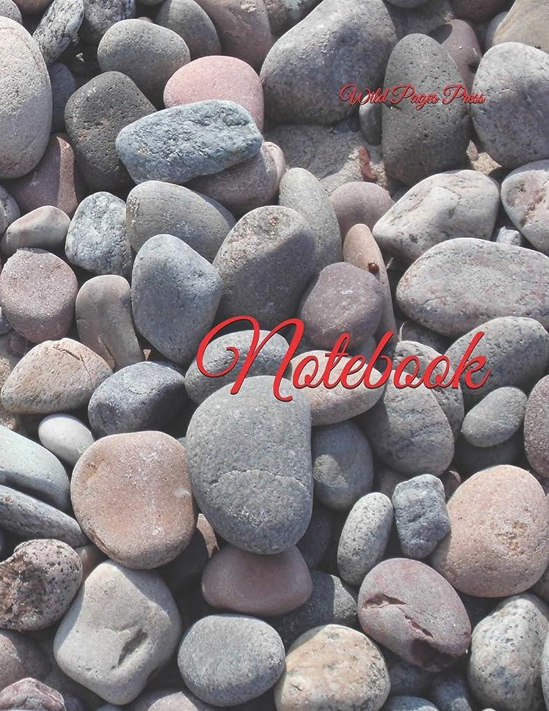 やむを得ない逸話ピンチNotebook: Beach Stones Design