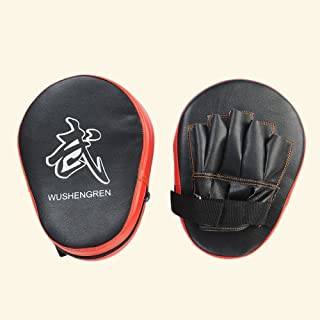 Forfar Punching Mitt PU Boxing Pads Training Punching Mitt with 5 Finger Slots for Fitness Practice
