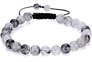 Gemstone Beaded Bracelets Natural Birthstone Healing Power Crystal Beads Macrame Adjustable 7-9 Inch Gift Box