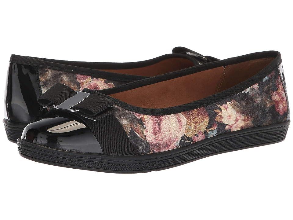 Soft Style Faeth (Black Floral Printed Velvet) Women
