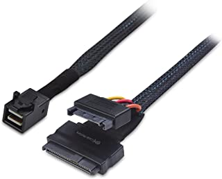 Cable Matters Internal 12G U.2 Cable (Mini SAS HD to U.2, SFF-8643 to SFF-8639 Cable) with SATA Power - 0.7m, 2 Feet