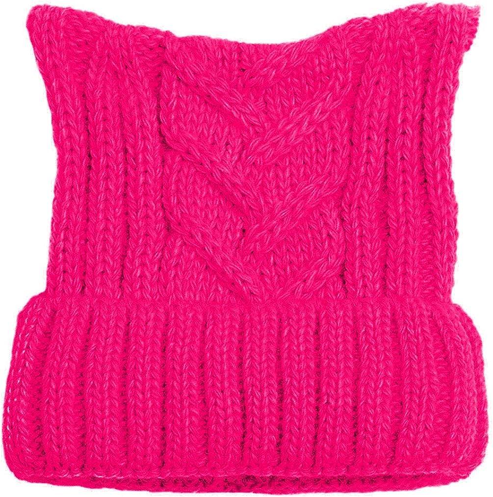 BIBITIME Winter Knit Beanie Lady Women Rights March Pussycat Hat Handmade Cap