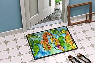 """Caroline's Treasures 8546-MAT Seahorse Indoor or Outdoor Doormat, 18"""" x 27"""", Multicolor"""