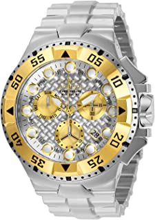 Invicta Men's Excursion Quartz Watch with Stainless Steel Strap, Silver, 30 (Model: 29724)