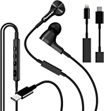 Pioneer Rayz Pro Active Noise Cancelling Earphones, Working, Traveling, Gaming. MFI Lightning USB, Auto-Pause Hands-Free Hey Siri Feature,Compatible with iPhone, iPad, Nintendo Switch (Onyx Black)