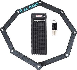 Cool Period Cadenas Antivol Pliable Extra Long Bicyclette électrique vélo 8 Branches 88cm circonférence Noir Haute sécurit...