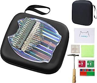 $33 » Kalimba Thumb Piano 17 keys, Upgraded Rainbow Crystal Clear Kalimba, Acrylic Mbira Finger Piano with EVA Bag, Musical Inst...