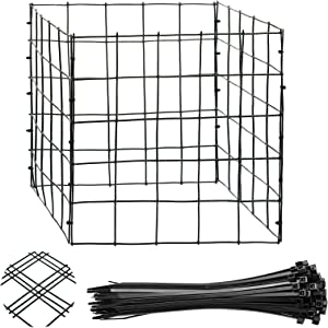 Ripeng Wire Plant Protectors with Tie 12 Inch Vinyl Coated Garden Wire Plant Mesh Protectors Supports for Plants, Vegetables and Shrubs (8 Pieces)