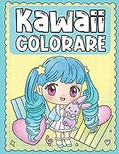 Colorare Kawaii: Libro da Colorare dei Personaggi Kawaii Troppo Carino e Adorabile per i Bambini 3-9 Anni (Italian Edition)