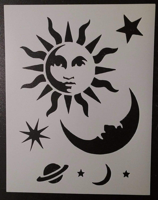 Celestial Sun Moon Stars Ouija Board Max 88% OFF Stencil 11