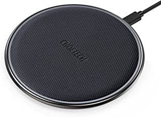 CHOETECH Wireless Charger, Qi Certified Zinc-Alloy & PU Ultra-Slim 10W Max Wireless Charging Pad, Compatible iPhone XS/XS Max/XR/X/8/8+, Galaxy Note 10/S20/S20+/S10/S10+, 5W all Qi Enabled Devices