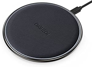 CHOETECH Wireless Charger, Qi Certified Zinc-Alloy & PU Ultra-Slim 10W Max Wireless Charging Pad, Compatible iPhone XS/XS Max/XR/X/8/8+, Galaxy Note 10/S10/S10+/S10E, 5W all Qi Enabled Devices