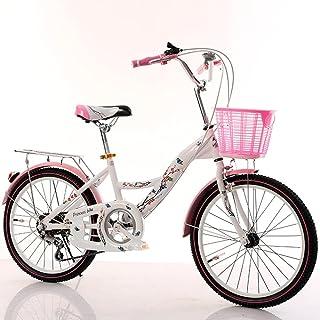 CivilWeaEU- Bicicletas para niños, 6-8-10-14 año Viejo Carro de bebé 20/22 Pulgadas niña Colegiala señora Bicicleta (Color : Black Tire, Tamaño : 22 Inches)