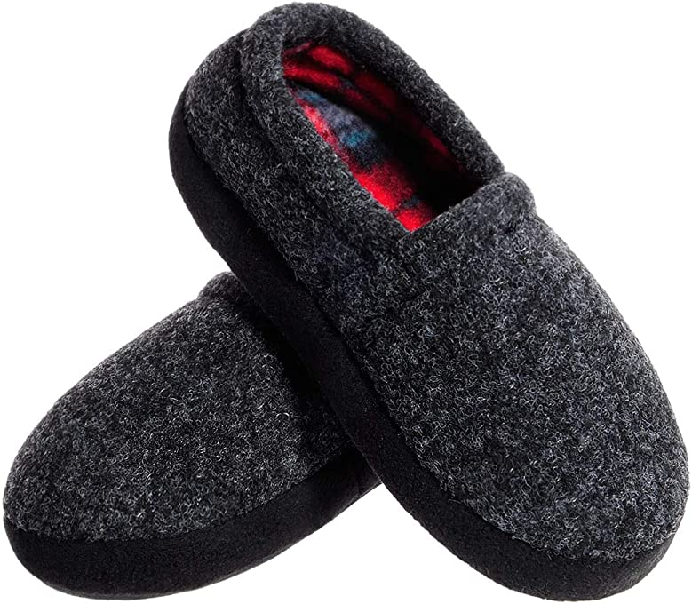 MIXIN Boys Indoor Outdoor Fuzzy Cozy Winter Warm Round Toe Slippers Shoes
