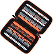 Game Card Storage Holder Hard Case for New Nintendo 3DS, 2DS XL, DS and Nintendo Switch or PS Vita - Black/Orange