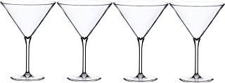 Kitchencraft Barcraft–Cubitera de plástico copas de cóctel Martini, 250ml (9FL OZ) (Set de 4), claro, juego de 4