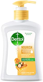 Dettol Nourish Anti-Bacterial Liquid Hand Wash 200ml - Honey & Shea Butter