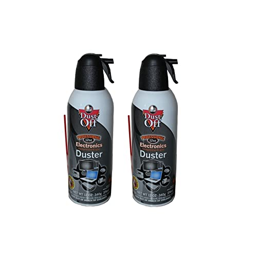 Falcon Dust-off Professional Electronics Compressed Gas 12oz. - 2 Pack