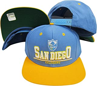 Reebok San Diego Chargers Blue/Yellow Two Tone Plastic Snapback Adjustable Plastic Snap Back Hat