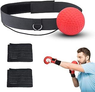 パンチングボール KATOOM ヘッドスピードボール ボクシング ボール トレーニング 手首スポーター付属 エクササイズ 動体視力 反射神経 瞬発力 自宅 簡単 ストレス発散 ストレス解消 格闘技 反応力 収納ケース (パンチングボール)