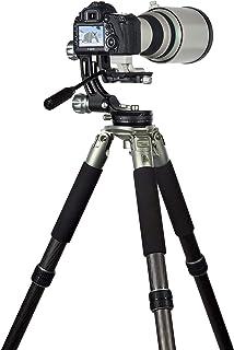 Rollei Lion Rock Gimbal – Carbon Stativ mit 30 kg Tragkraft, ideal für Astro – Vogel – und Sport Fotografie,für Spiegelreflex  u. System Kameras,11 lagiges Carbon mit Spikes und Gimbal Stativkopf