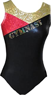 Look-It Activewear Sparkle Gymnast Gold Leotard for Gymnastics girls and women