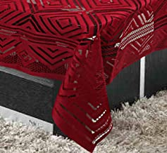 Kuber Industries Cotton 1 Piece 4 Seater Center Table Cover (Maroon) -CTKTC05807