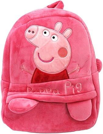 Pandora Velvet Pepa Kids School Bag(Pink)