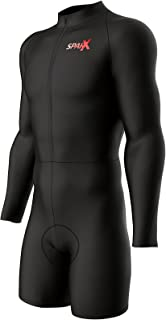 Sparx Long Sleeve Cycling Skinsuit Pro Team Bicycle Suit Bike Racing Suit Cycle Kit 3D Pad