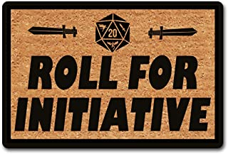 Funny Welcome Mat Indoor Rug Rubber Back Doormat Roll for Initiative Doormat Roll Initiative Rug (23.7 in X 15.6 in) Front...