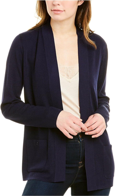 Anne Klein Womens Navy Long Sleeve Open Cardigan Top Size XXS