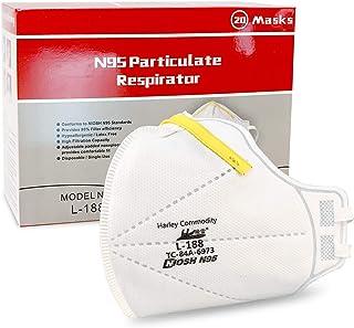 N95マスクNIOSH承認 (米国労働安全衛生研究所規格)防塵用・医療用マスク ウィルス飛沫防止 20枚入