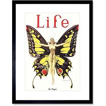 Magazine 1922 Life Butterfly Dancer Black Framed Art Print Picture B12X10973