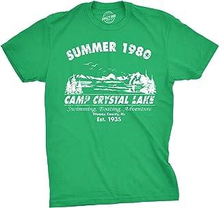 Mens Summer 1980 Mens Funny T Shirts Camping Shirt Vintage Horror Novelty Tees